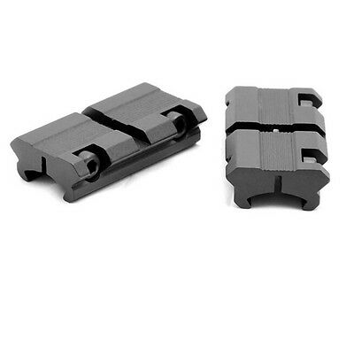 "LS2 2pcs Picatinny/W 3/8"" 11mm Dovetail to 7/8"" 20mm Weaver Rail Scope Mount CES"