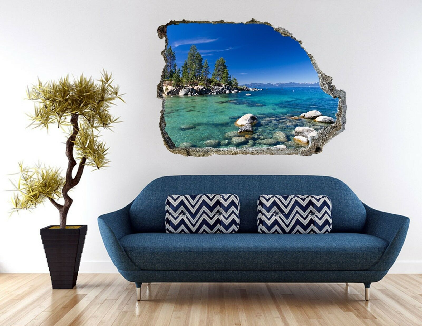3D Meeresbucht 212 Mauer Murals Mauer Aufklebe Decal Durchbruch AJ WALLPAPER DE