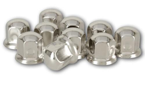 20 tornillos tapas SW 33mm acero inoxidable camiones neumáticos llantas radmutterkappen 33 mm