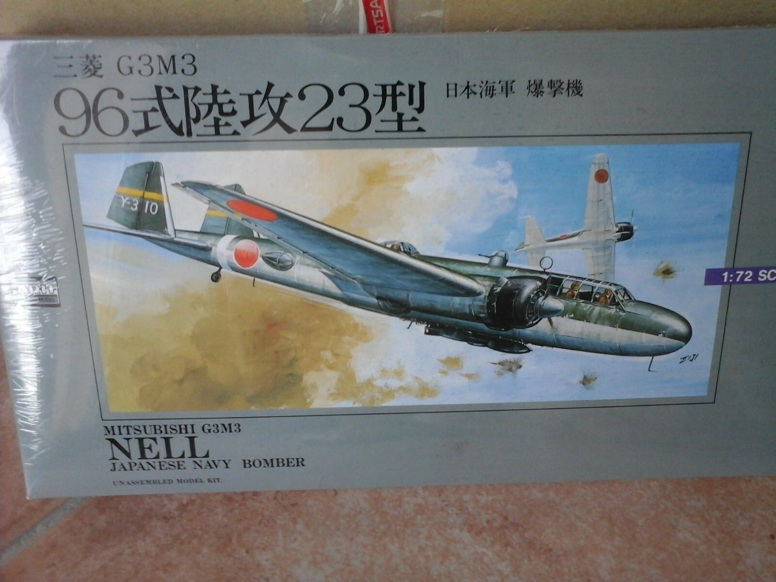 Mitsubishi g3n3 Nell Navy Bomber 1 72 SCALE ARII Model + PHOTOETCHED parts