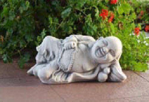 Buddha liegend (S101168) Gartenfigur Skulptur Statue Steinguss Betonguss 19 cm