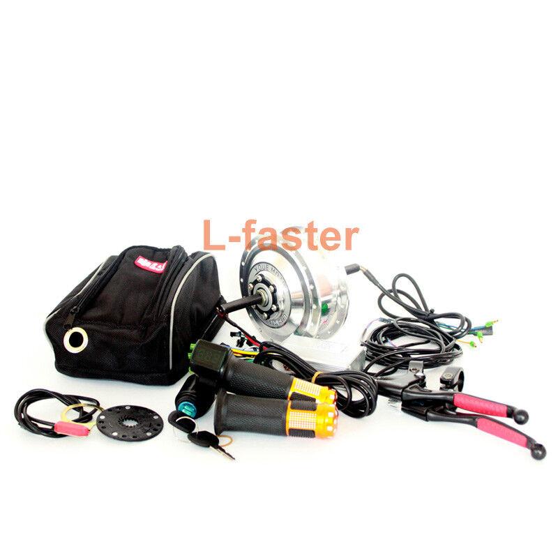 36V48V 250W Electric Bike Rear Wheel Brushless Hub Motor Kit Can Use Wuxing LCD