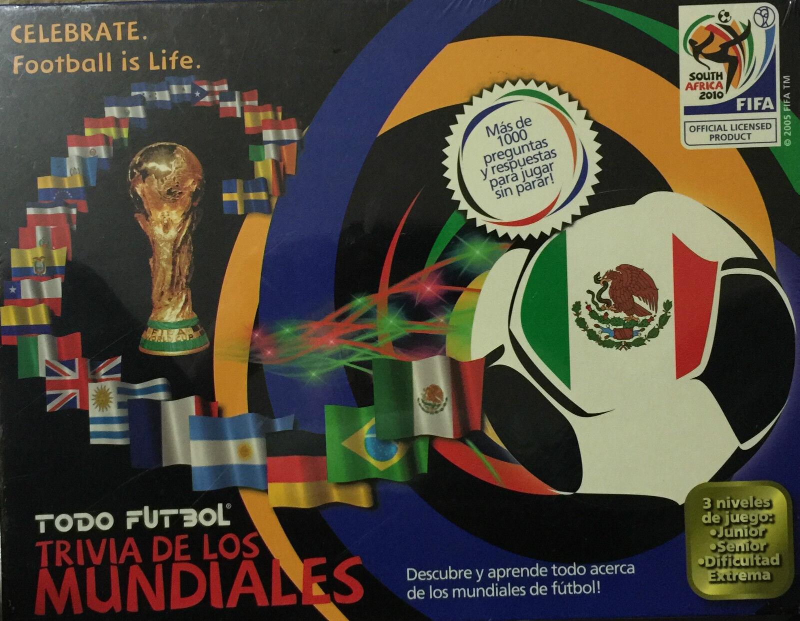 FIFA Sudáfrica 2010 Trivia Juego de Mesa celebrar  el fútbol es vida