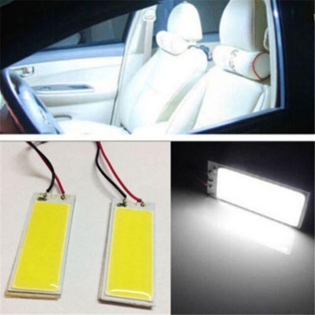 2X White 36 COB LED Xenon HID Dome Map Light Bulb Car Interior Panel Lamp 12V