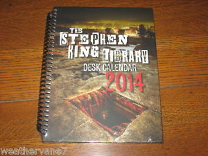 Stephen King Desk Calendar 2014. Brand New Sealed Ready to ship OOP