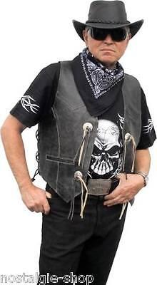 100% Wahr Bikerweste Antik, Kutte, Motorrad Lederweste F.biker,country U,50er Rocker Mit Einem LangjäHrigen Ruf