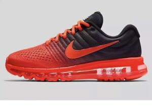 Details about Brand New Nike Air Max 2017 MULTI SIZES Bright Black Crimson 849559 600 Mens