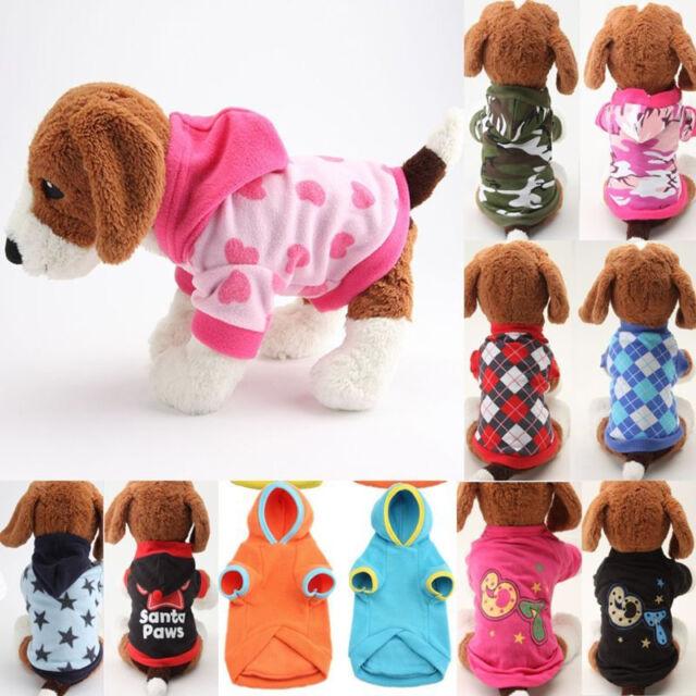 Mascota Perro Vellón Cálido Sudadera Disfraz Ropa con Capucha Suéter Chaqueta