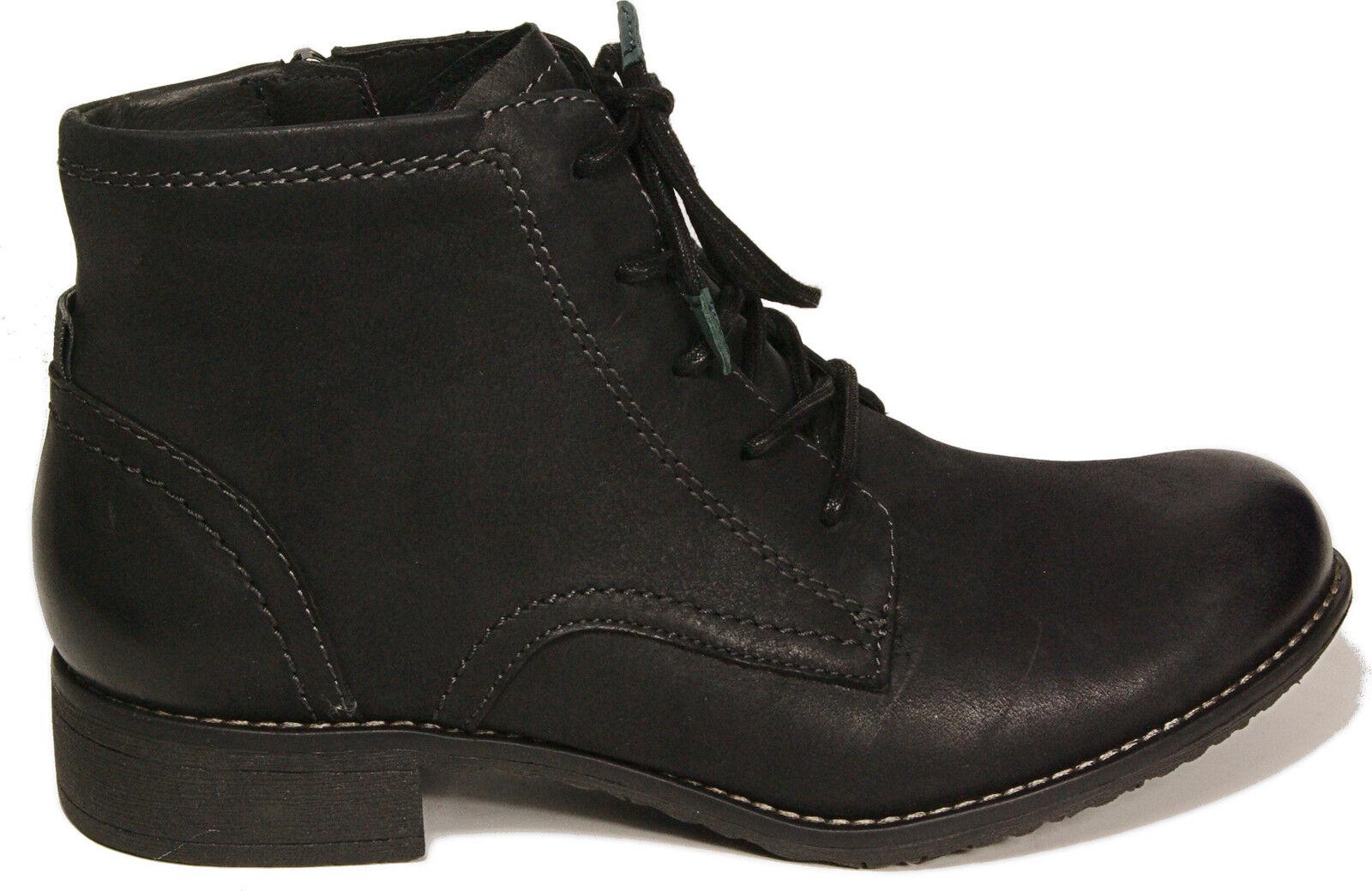 Tamaris zapatos ata botín Echt Leder negro cremallera nuevo