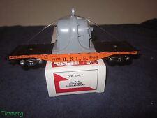 Marx 7346 O Gauge Bessiemer Orange Generator Flat Car w/Gray Generator MIB #SS