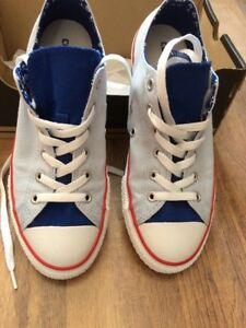 102fa8811b32 Genuine Converse size 4 Double Tongue Ox Porpoise blue white New In ...