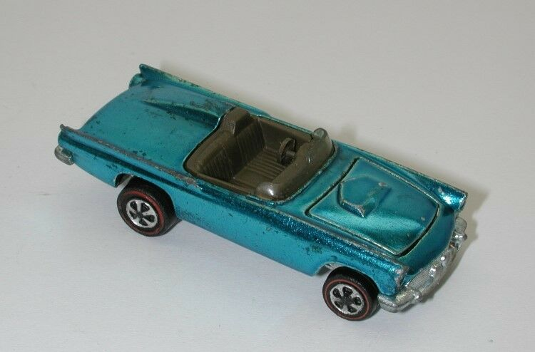 Redline Hotwheels Light bluee 1968 Classic 57 T Bird oc10806