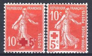 Francia-Anno-Completo-1914-Yvert-146-147-2-Francobolli-Semeuse-Nuovi-Xx-Lusso