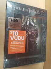Game of Thrones: The Complete First Season (DVD, 2012, 5-Disc Set) NEW SEALED