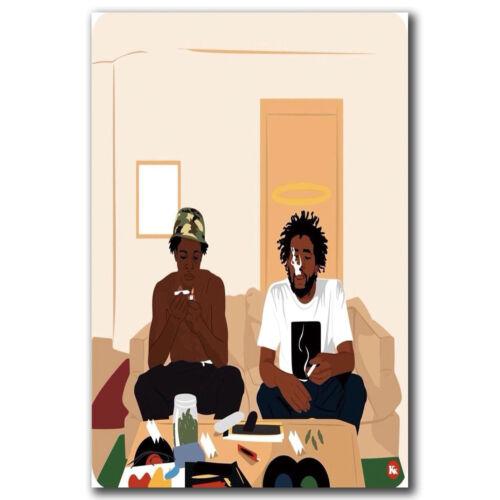 Joey Bada$$ Rap Music Stars Art Hot 12x18 24x36in FABRIC Poster N3787