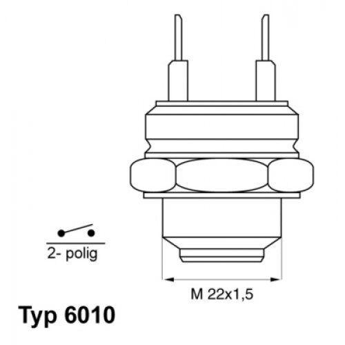 WAHLER Temperature Switch, radiator fan 6010.92D