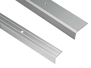 Treppenwinkel 10 x 25 x 900 mm silber zum schrauben 3,59/€//m Treppen-Kantenprofil Stufen-Profil Alu-Winkel-Profil 900 mm gebohrt, silber