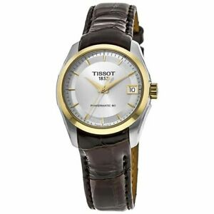 New Tissot Couturier Silver Dial Leather Strap Women's Watch T035.207.26.031.00