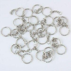 100pcs-Silver-Keyring-Blanks-Tone-Key-chains-Key-Split-Rings-4-Link-Chain-50mm
