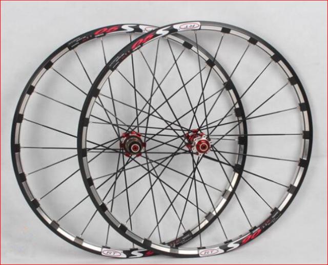9c3a43438f7 MTB Mountain Bike 26inch Alloy Rim Carbon Hub Wheels Wheelset Rims ...