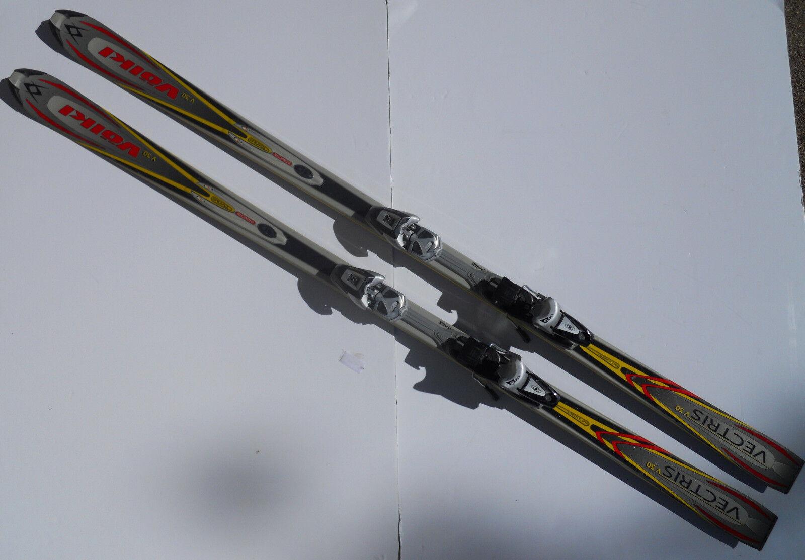 VOLKI  Vectris V30 Skis 72 Inches long (approx 190cm) with Salomon Bindings