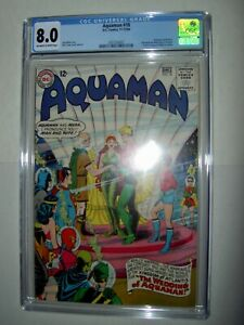 Aquaman-18-CGC-8-0-VF-OW-W-pages-1964-Weds-Mera-becomes-King-of-Atlantis