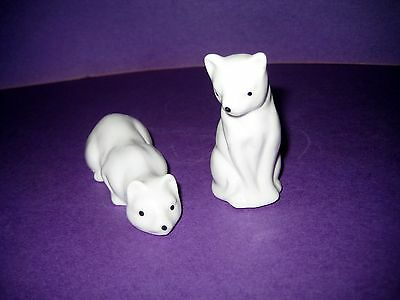 Small Figurines Pair Of Porcelain White Cats