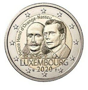 2-Euro-Luxemburg-2020-200-Geburtstag-Prinz-Henri-von-Oranien-Nassau