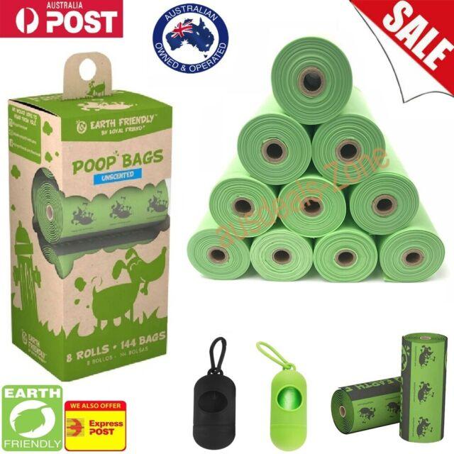 144 PET POOP BAGS CLEAN DISPOSABLE DOG POO WASTE GARBAGE BAGS LOO DISPOSAL BAG
