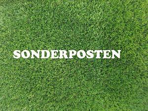 Sonderposten Kunstrasen DELUXE ca 62 cm x 10 Meter Farbe grau Rasenteppich