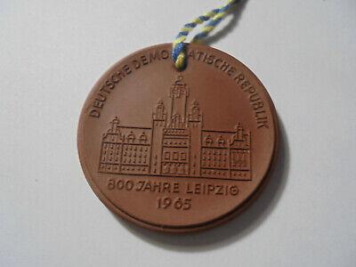 Liberal 31178 Meissen Medaille 800 Jahre Leipzig 1165 1965 41mm Medal Stoneware