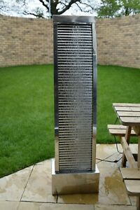 Stainless Steel Vertical Water Cascade Feature, Swindon(Wiltshire)