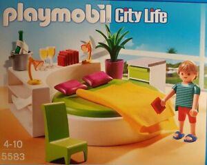 Details zu Playmobil 5583 Luxusvilla Schlafzimmer Schlafinsel/City  Life/Bedroom/Dollhouse