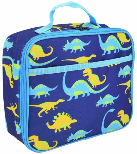 Kids Lunchbox back to School Boys Dinosaur Themed Front Pocket Insulated Cooler