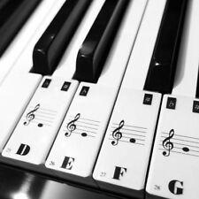 Teclado De Piano 61Keys Electrónico Pegatinas Teclado Etiqueta Notas Biginners