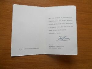 new arrivals a5596 6a5a2 Dettagli su PELLICCERIE ALTA MODA DAL SOMMO NUOVI MODELLI 1963 ROMA HOTEL  EXCELSIOR INVITO