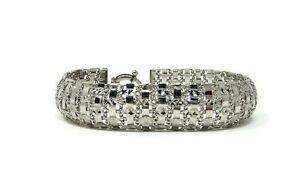 Sterling-Silver-Chain-Mail-Mesh-Bracelet-925