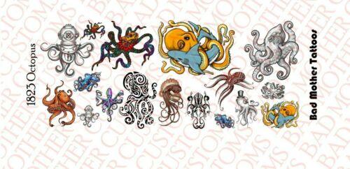 Échelle 1//18 Waterslide Decal Tatouages pour action figure Octopus
