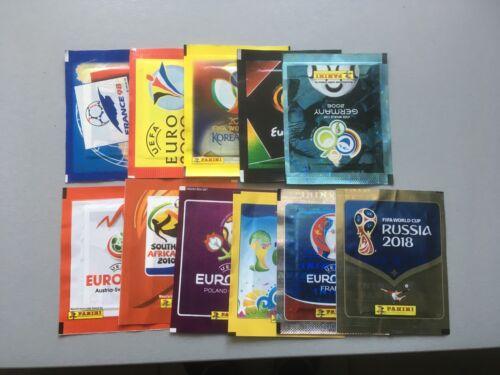 pochettes panini wc 1998.2002.2006.2010.2014 euro 2000 2004.2008.2012