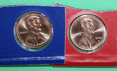 2012 P and D Lincoln Cent Two Coins Cut from US Mint Set UNC One Cent Penny 1c