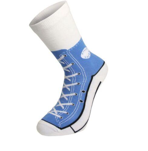 Uomo Calzini Silly Converse Scarpe da ginnastica Sneakers cotone taglia 5 7 8 9 10 11 scherzo divertente