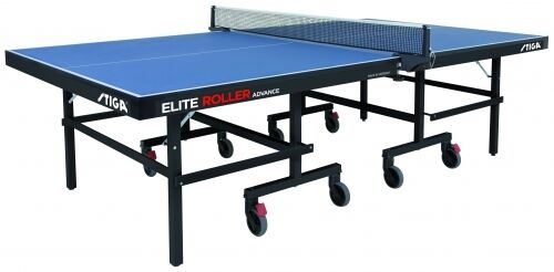 Stiga Table Tennis Table Elite Roller CSS Advance Indoor Table - bluee