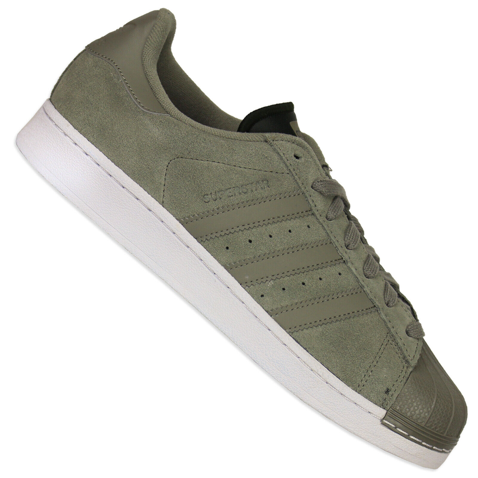 Adidas Originals Clean Superstar Trainers shoes Suede Cg3779 Trace Cargo