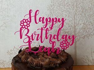 Fantastic Happy Birthday Cake Topper Personalised Huge Range Of Acrylic Personalised Birthday Cards Vishlily Jamesorg