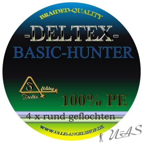 Deltex Basic Hunter Grün 0,25mm 14.7Kg 1000M Rund Geflochtene Angelschnur Kva
