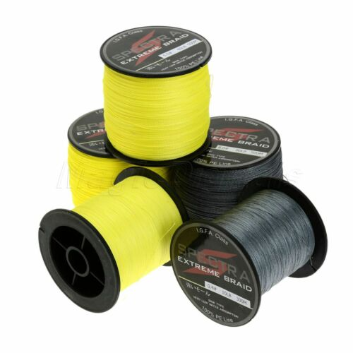 Super Strong Dyneema Spectra Extreme Braided Fishing Line 300M //500M Grey//Yellow