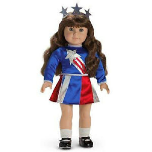 american girl doll molly molly 39 s patriotic miss victory costume outfit dress ebay. Black Bedroom Furniture Sets. Home Design Ideas
