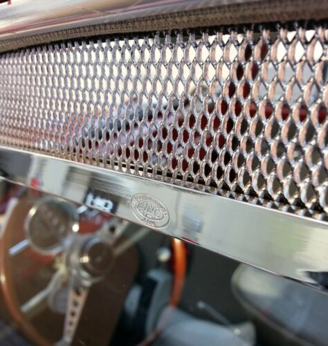 Window Vent Trims mesh for VW Beetle Type 1 Bug EARLY POLISHED Regus AAC123