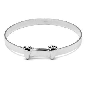 Image Is Loading Solid Silver Christening Bangle Engraved Personalised Baby Gifts