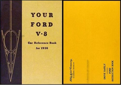 1936 Ford Car and Pickup Truck Owners Manual Package with Envelope 36 Reference